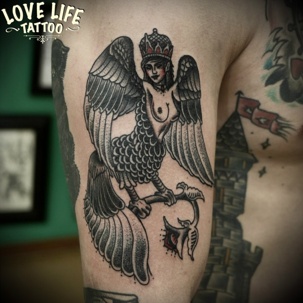 татуировка гарпии