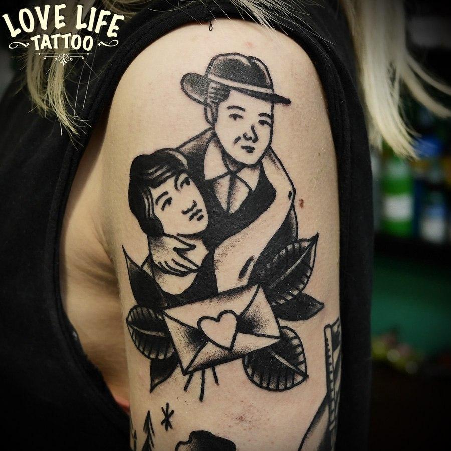 татуировка мужчины и женщины