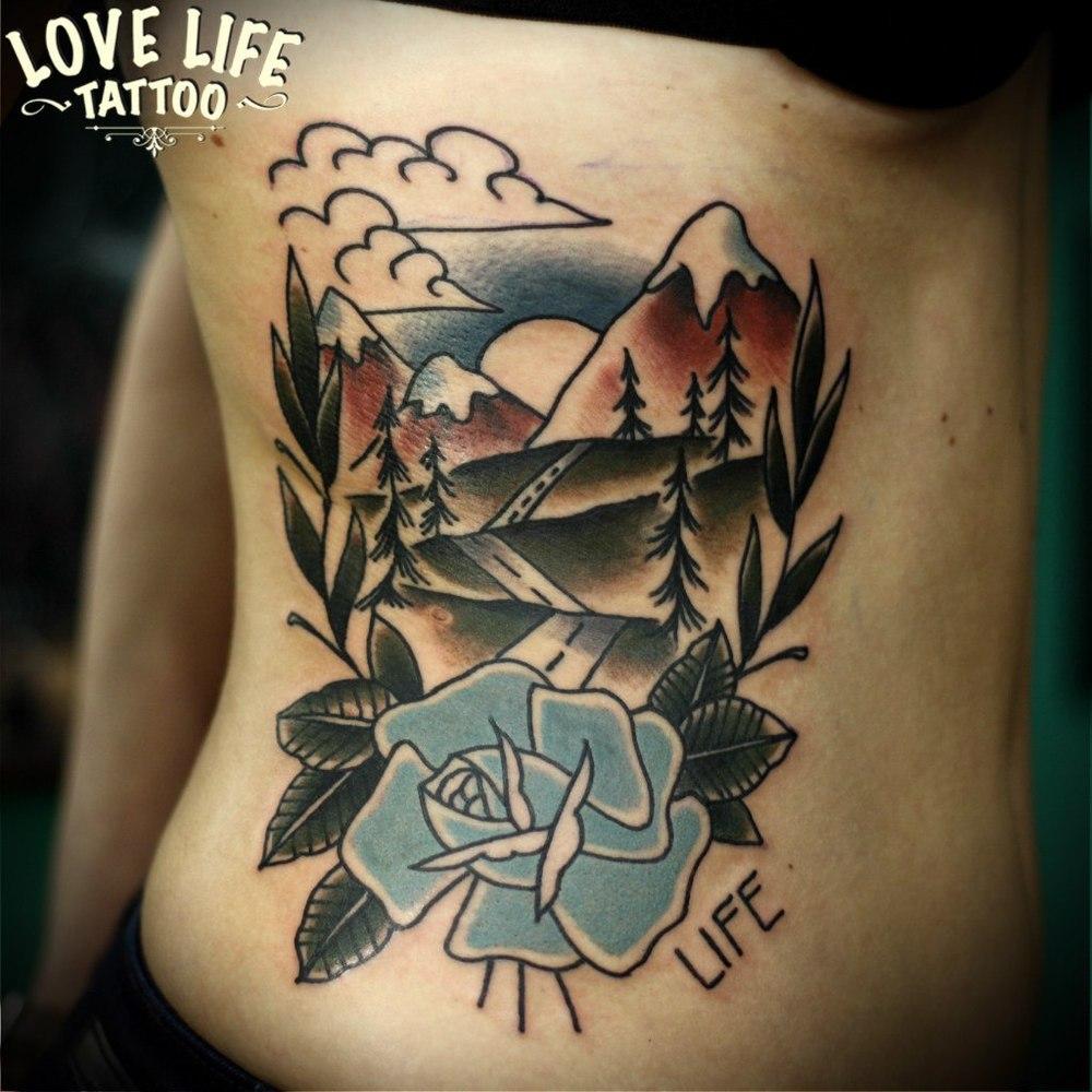 татуировка гор