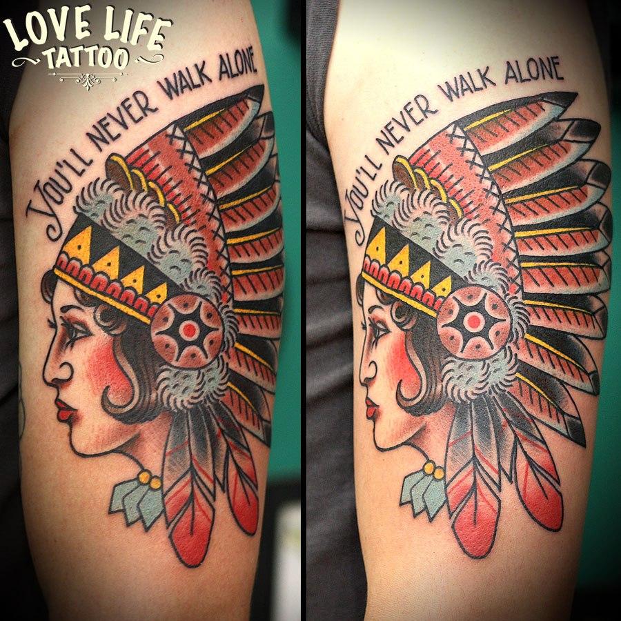 татуировка индианки
