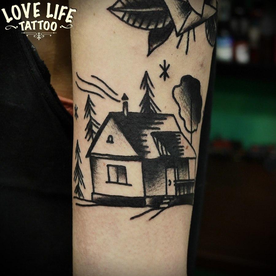 татуировка дома