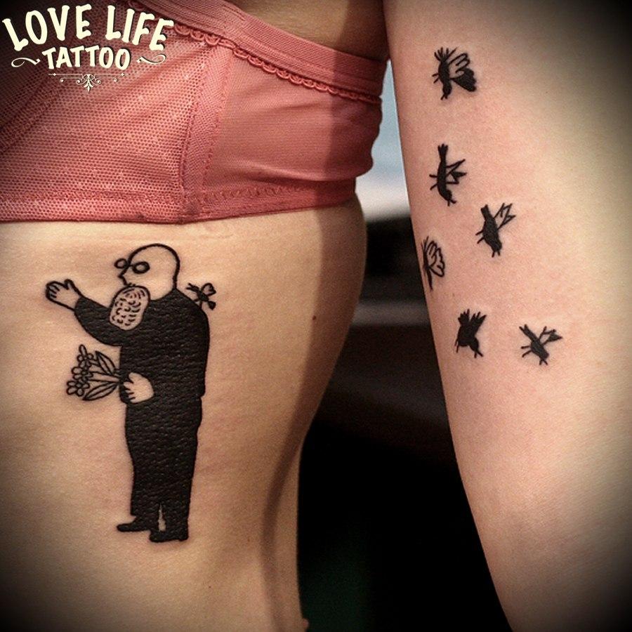 татуировка человека и насекомых