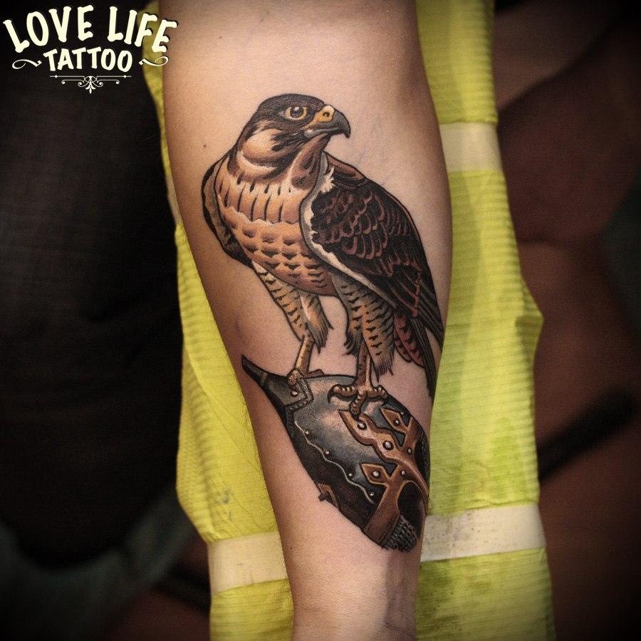 татуировка сокола