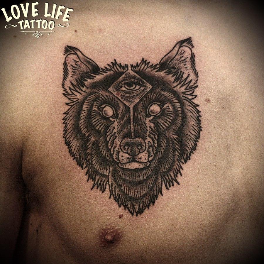 татуировка волка
