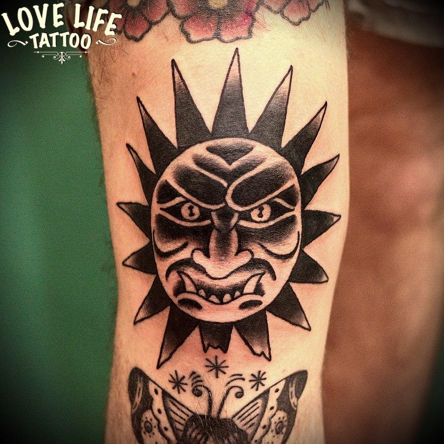 татуировка солнца