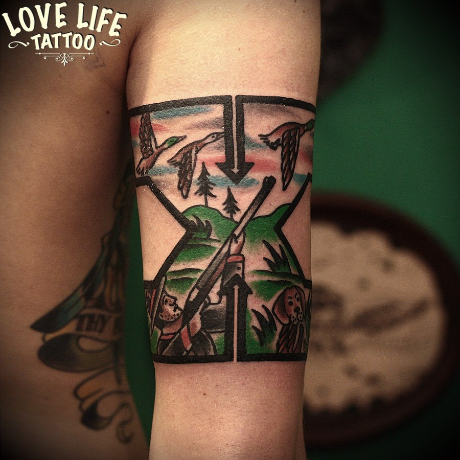 татуировка охотника на уток