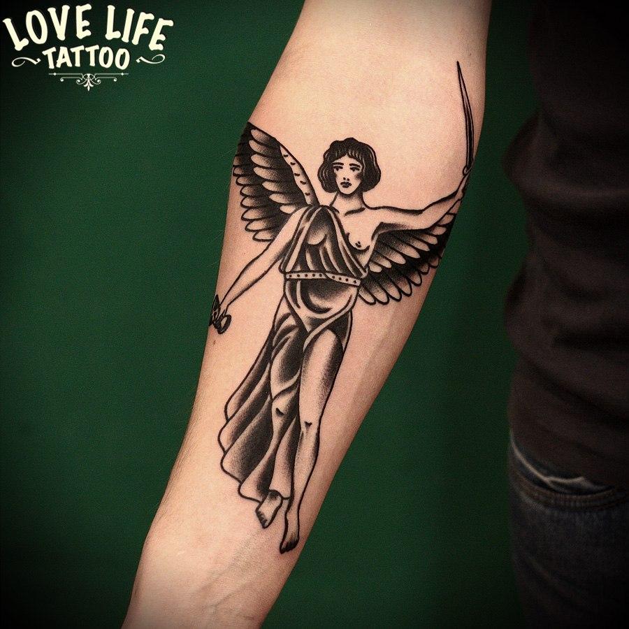 татуировка ангела