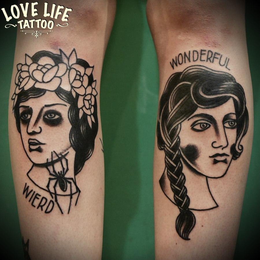 татуировки девушек