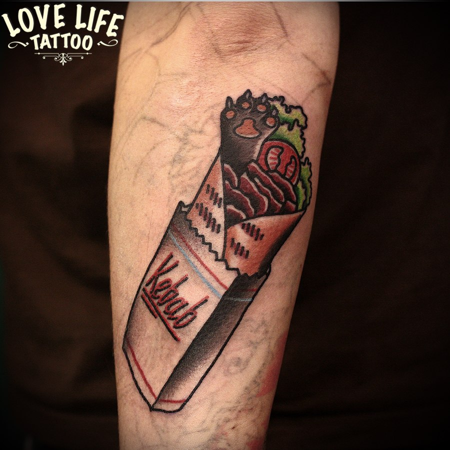татуировка шаурмы
