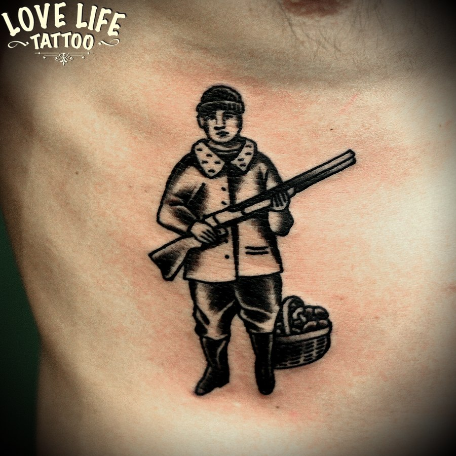 татуировка охотника