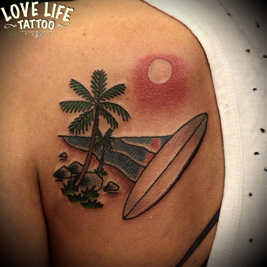 татуировка серфа
