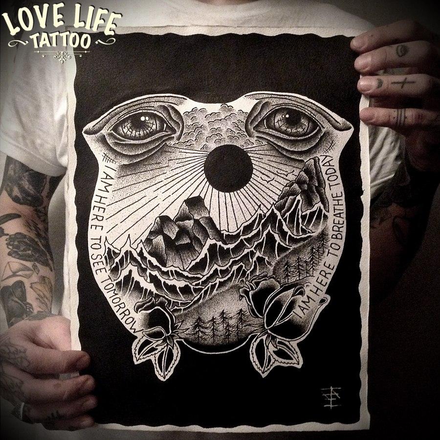 hand poke tattoo sketch