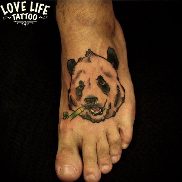 татуировка панды