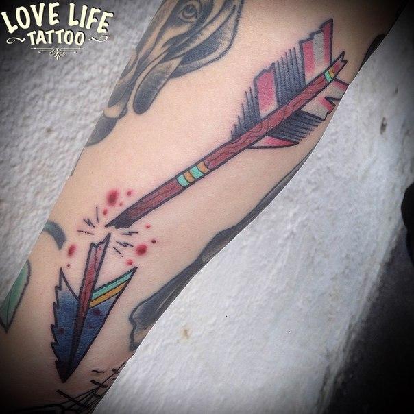 татуировка стрелы