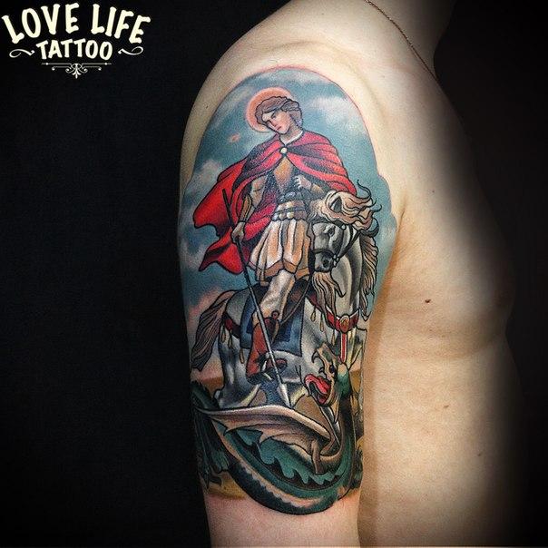 татуировка Георгия Победоносца