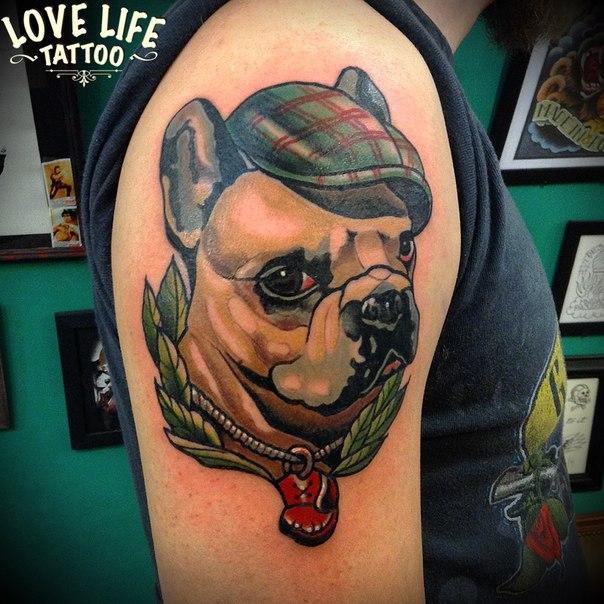 татуировка собаки