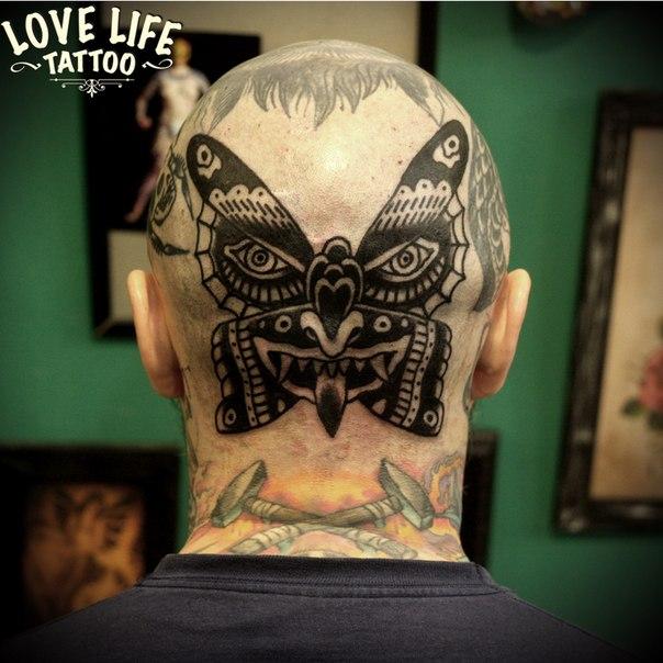 татуировка бабочки
