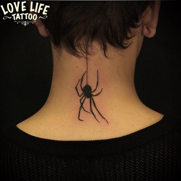 татуировка паука