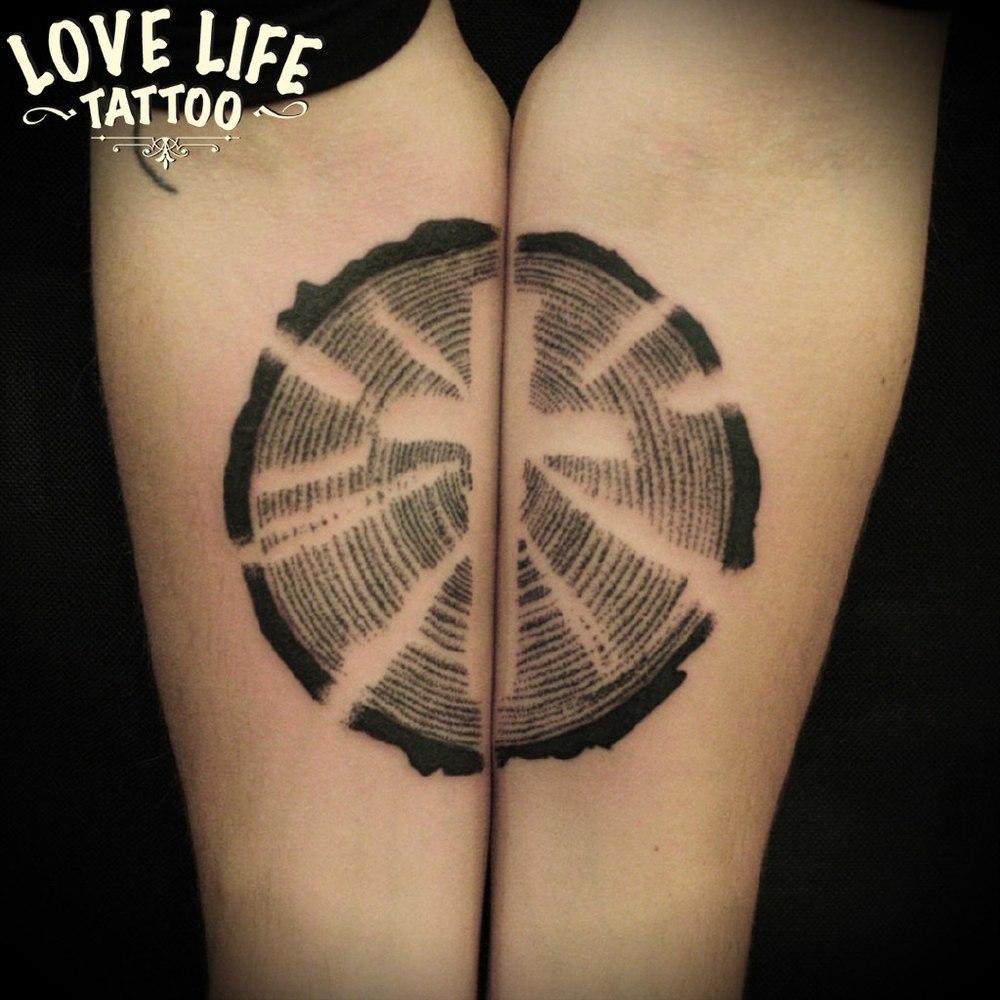татуировка креста