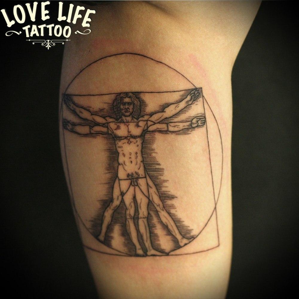 татуировка витрувианского человека
