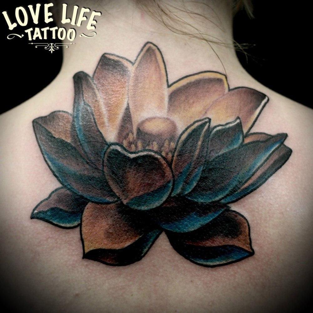 татуировка лотоса (перекрытие)