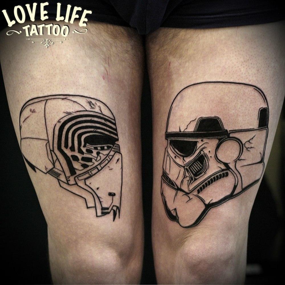 татуировка персонажей звездных войн