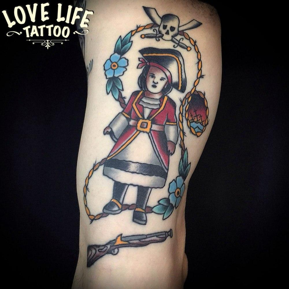 татуировка девочки