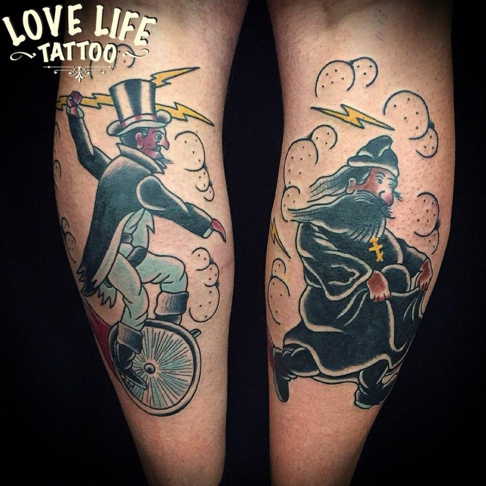 татуировка сатаны и попа