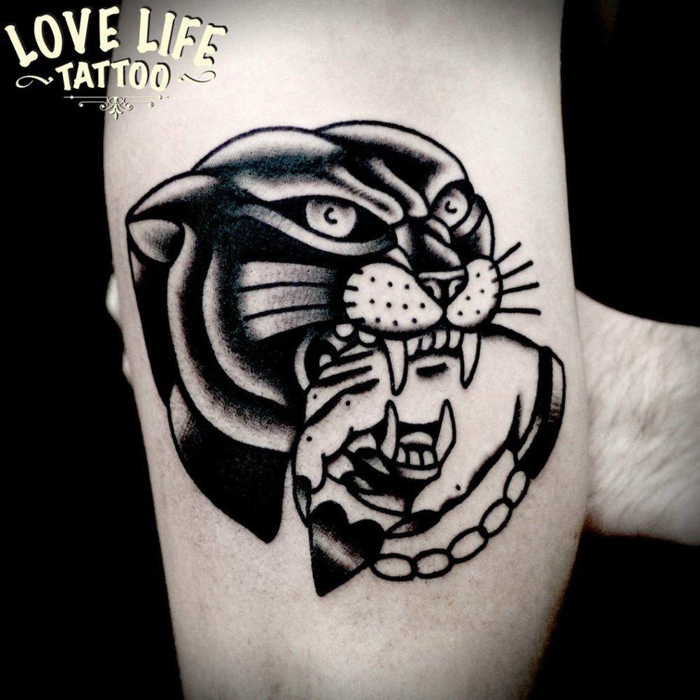 татуировка пантеры