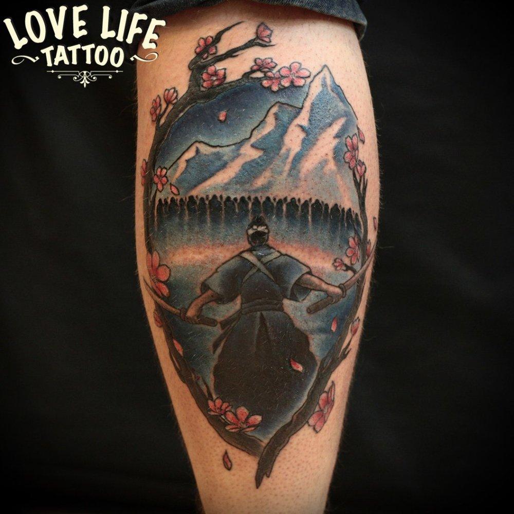 татуировка самурая