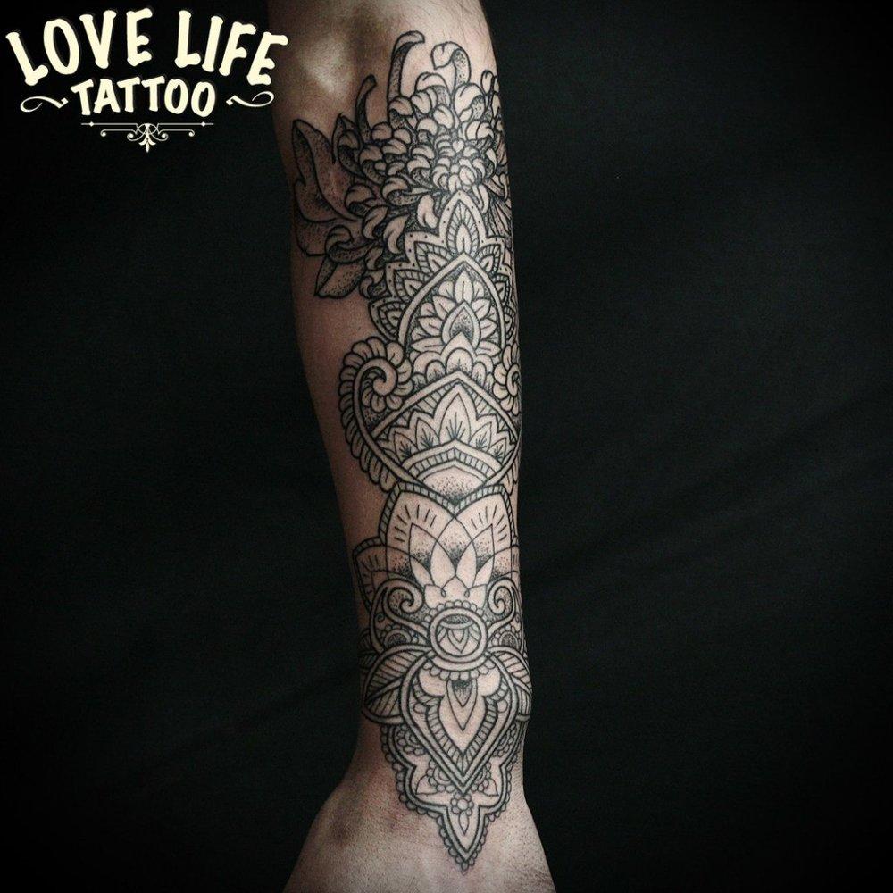 татуировка узора