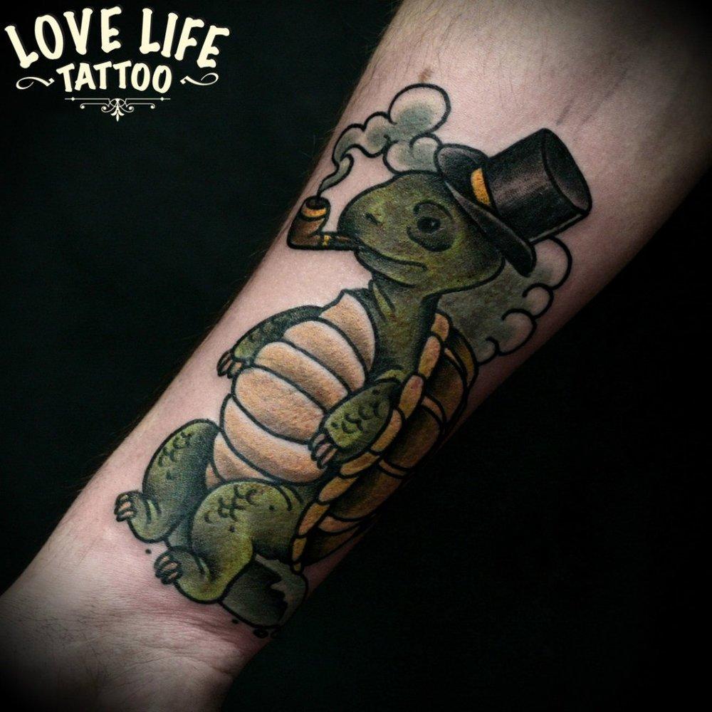 татуировка черепахи
