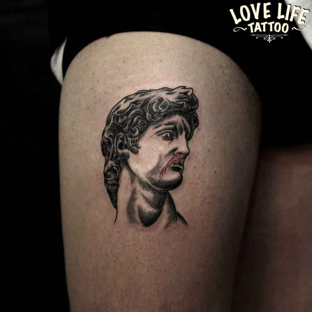 татуировка скульптуры