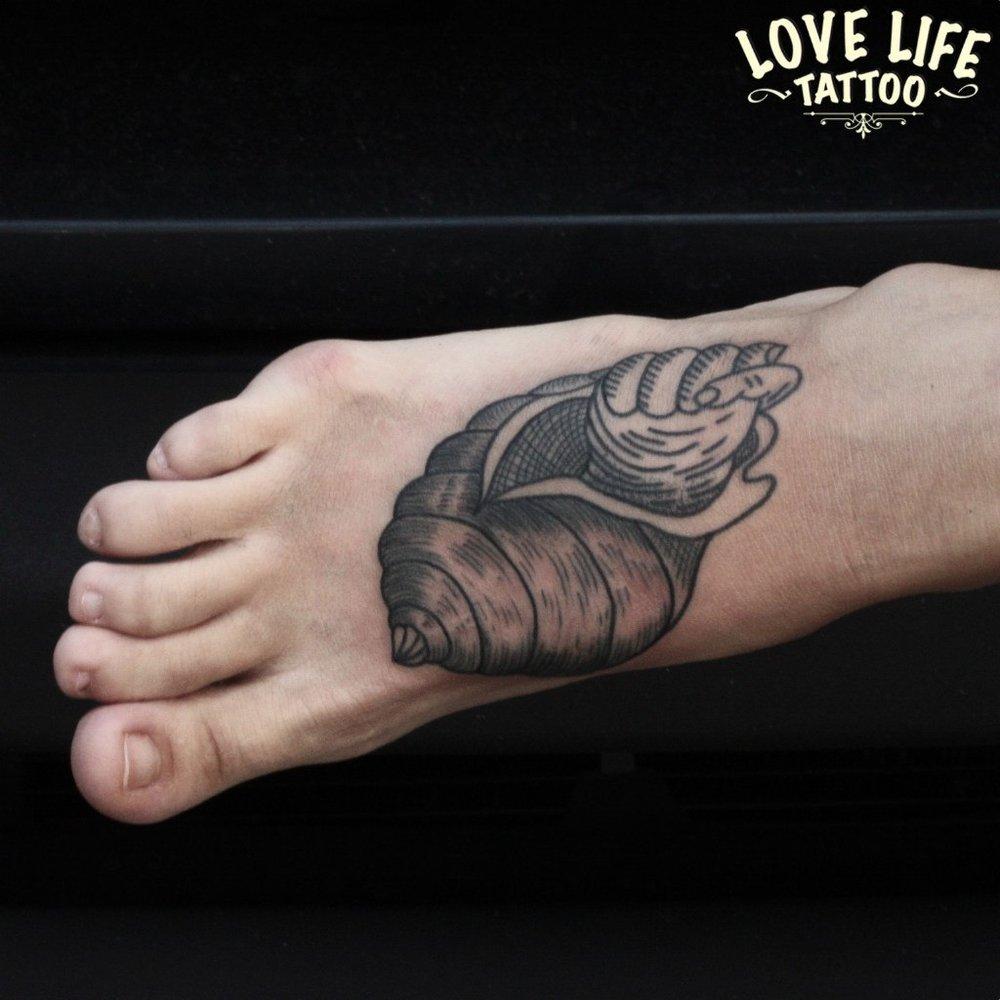 татуировка ракушки