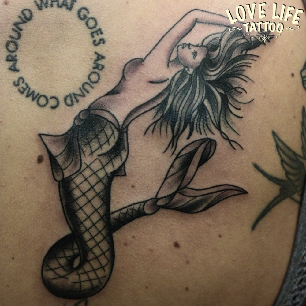татуировка русалки