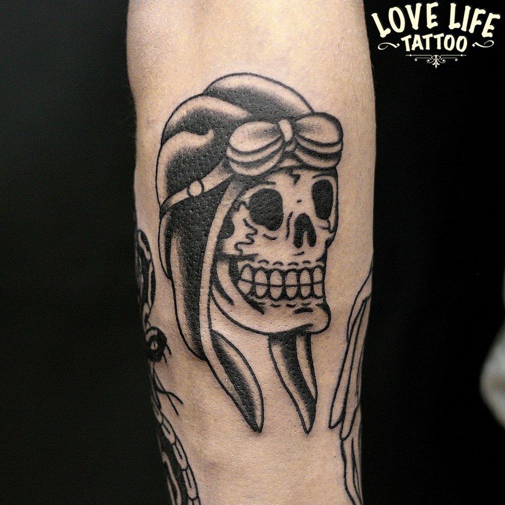 татуировка черепа