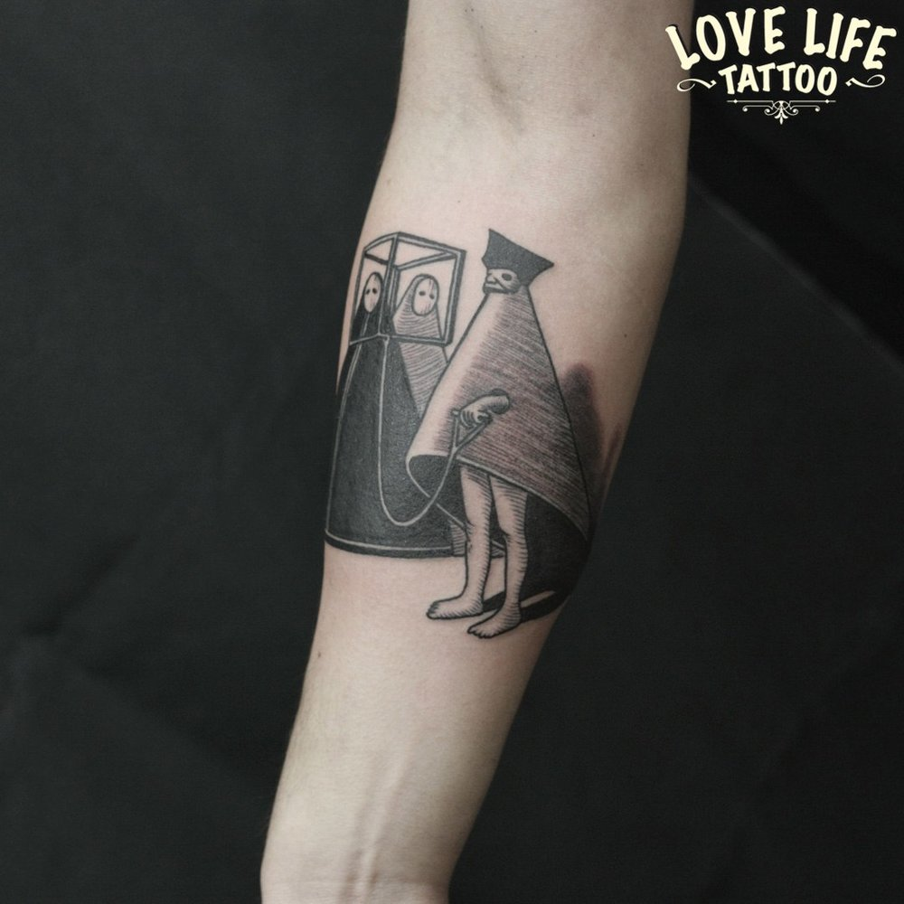 гравюрная татуировка