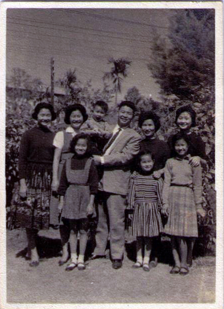 Bai Family: My mother, her parents, her sisters, and her younger brother. 1961