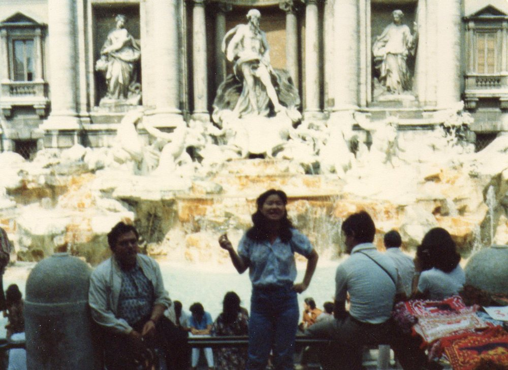 "Trevi Fountains, Rome, 1978. ""I wished to come back. And we did, in 2002,"""