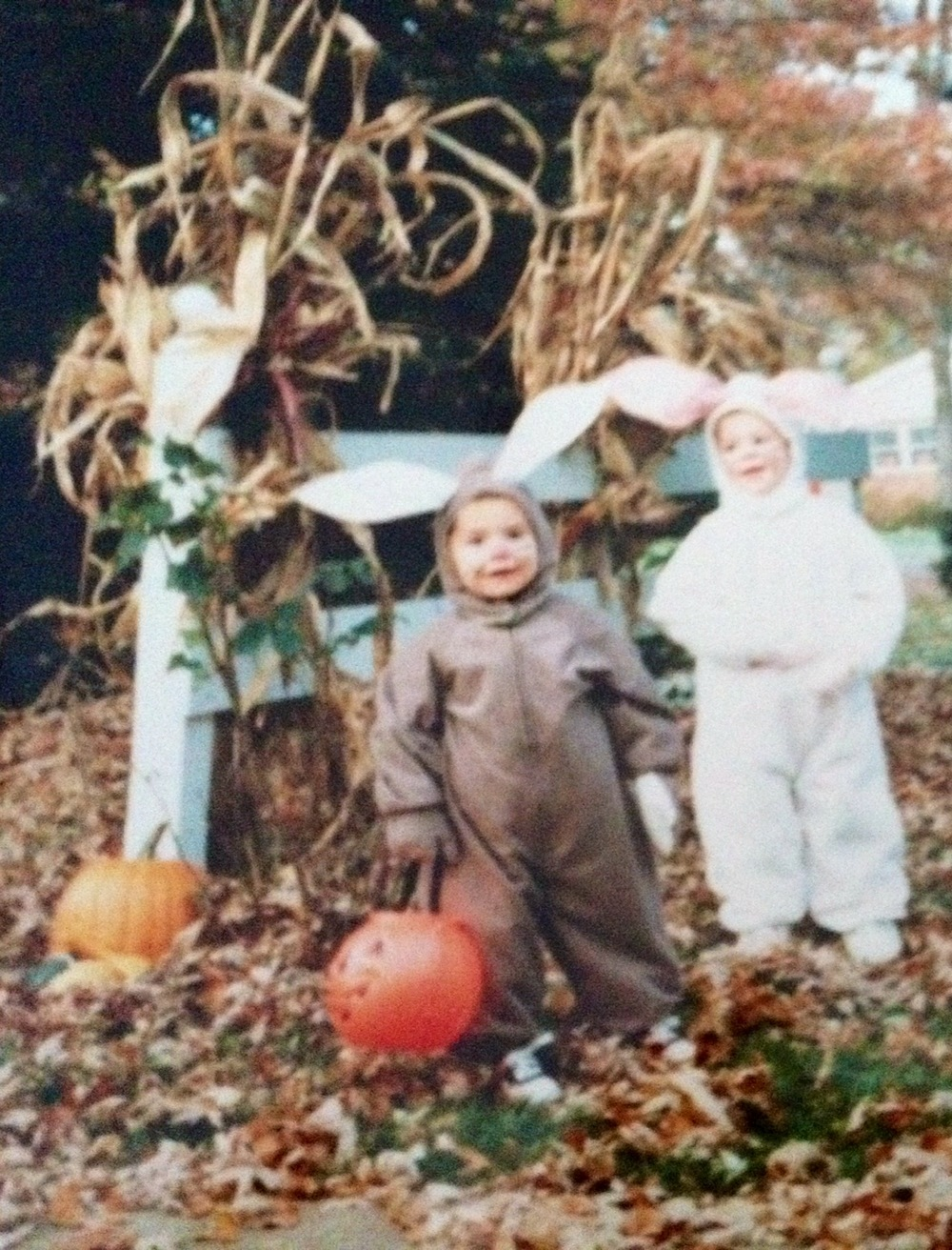 """We had the best costumes growing up for halloween; they were full-on, crazy turtle costumes, bunny rabbits, cat onesies made from scratch,"""