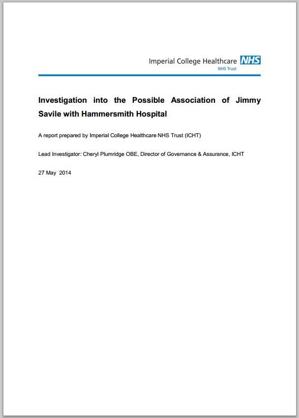 Investigation into allegations against Jimmy Savile at Hammersmith Hospital