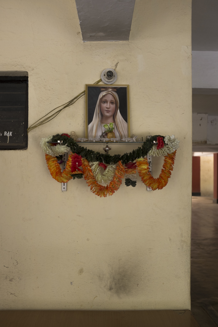 A garage shrine in Bangalore