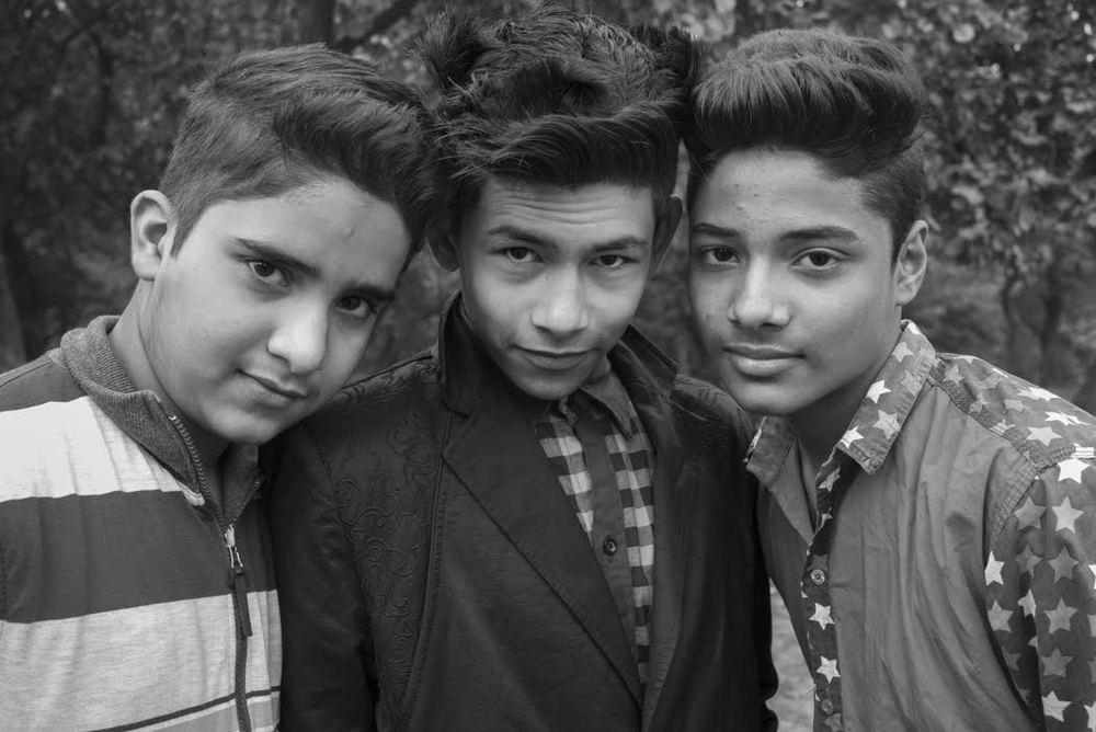 stylish youth pose