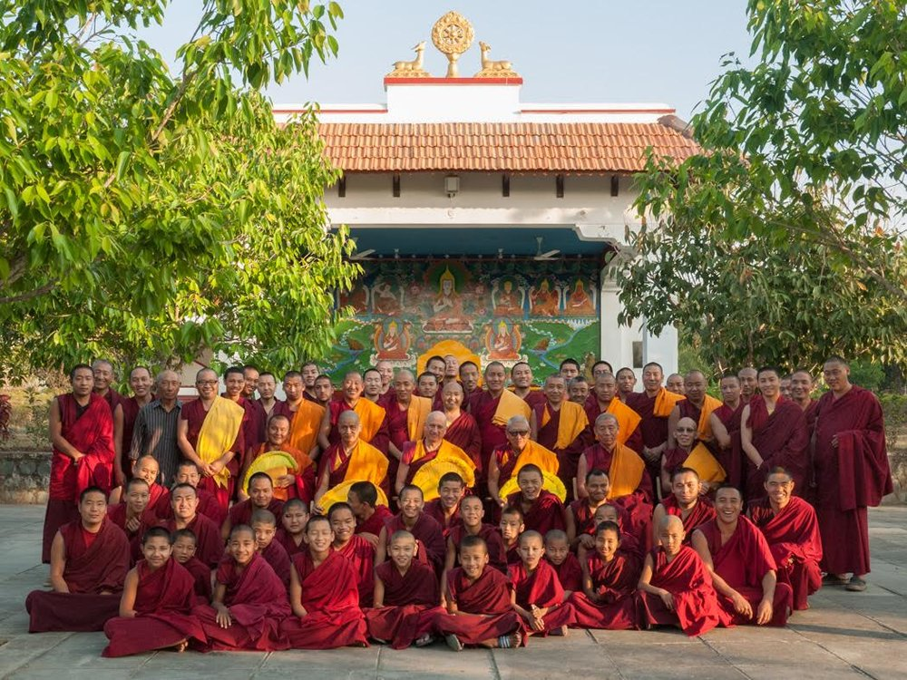 The happy monks of Rato Dratsang wish you a happy new year