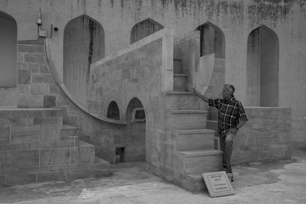 There are different forms of selfie… here is my father in front of his own astrological sign at the Jantar Mantar in Jaipur