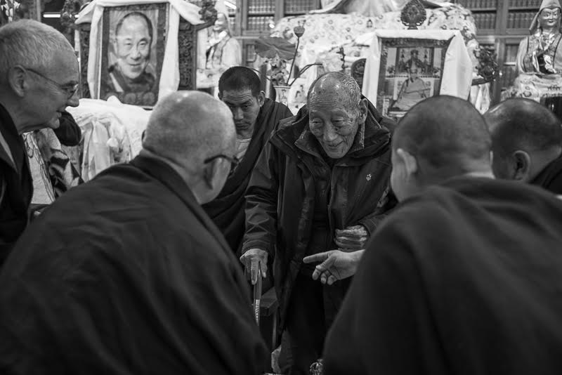 where Lama Zopa Rinpoche welcomes him