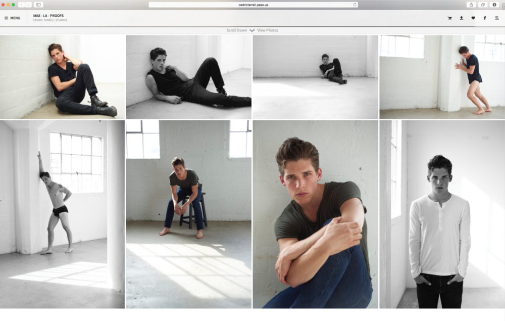 Example of proof gallery - Model Max La Manna - Click Models LA