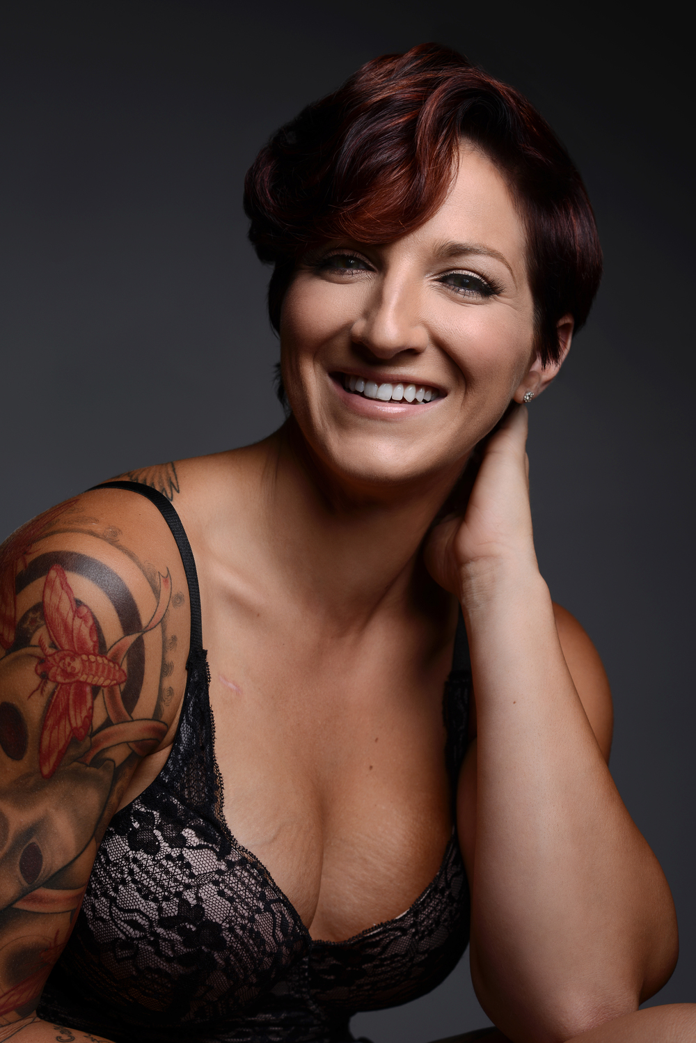 Studio Portrait Session - Army vet and breast cancer survivor Mylee Yc