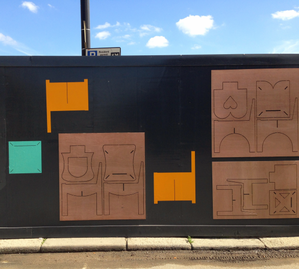 Designs from the local community have been installed on the Wall and are ready for assembly in July!