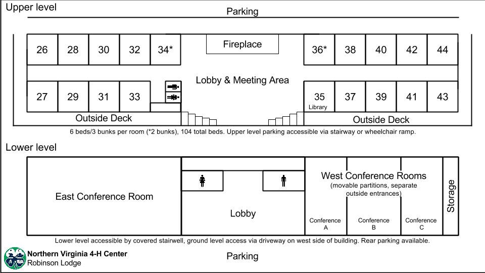 View the layout of Robinson Lodge or download a PDF version.